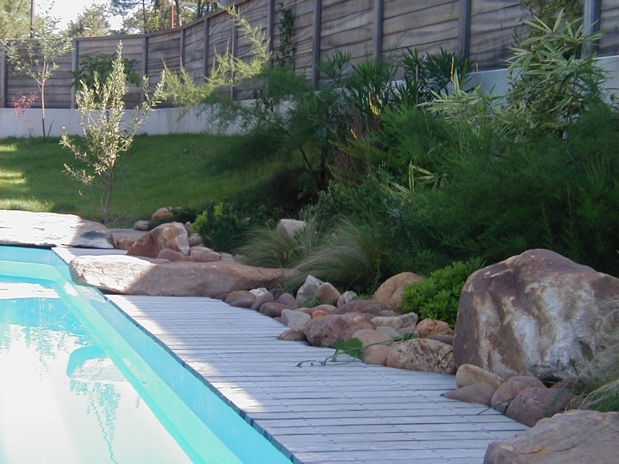 D coration de bord de piscine anglet r alisations for Piscine jardin impot